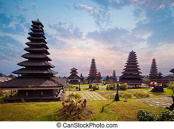 Besakih complex Pura Penataran Agung , hindu temple of Bali,...