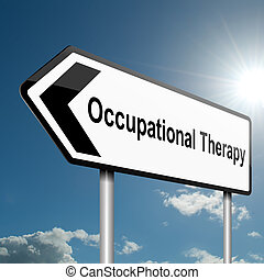 beschäftigungstherapie, concept.