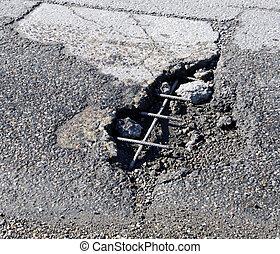 beschadigen, straat