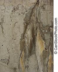 beschadigen, versleten, mark, water, beton, vieze