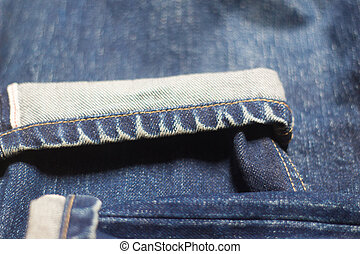 beschaffenheit, hintergrund, von, jeans, weich, verwischen