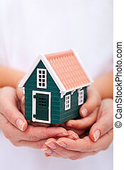 beschermen, concept, -, jouw, huis verzekering