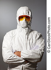 beschermend, wetenschapper, slijtage
