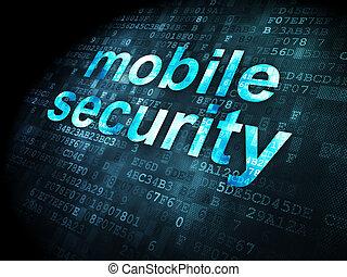 bescherming, concept:, beweeglijk, veiligheid, op, digitale achtergrond