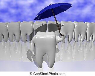 bescherming, tand
