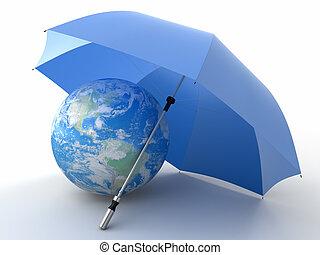 bescherming, van, een, milieu