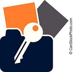 bescherming, vector, ontwerp, mal, logo, data