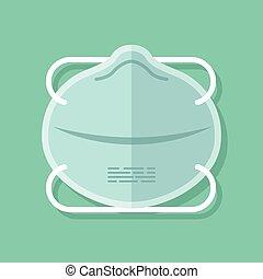 bescherming, virus, masker, ontwerp