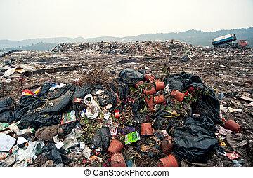 beschikking, plaatzen, afval, china