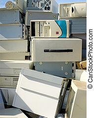 beschikking, recycling, of, computers