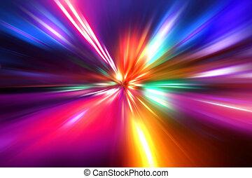 beschleunigung, abstrakt, bewegung, nacht, geschwindigkeit,...