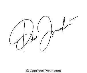 gezeichnet unterschrift