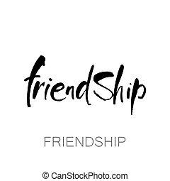 beschriftung, freundschaft, schablone
