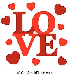 beschriftung, love.