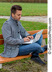 besetzen laptop, park