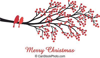 besjes, kerstmis kaart, rood