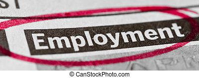 beskæftigelse, banner