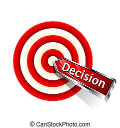 beslissing, concept, pictogram