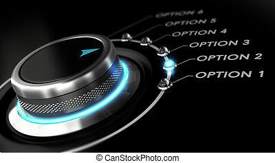 beslissing, concept, vervaardiging, keuze