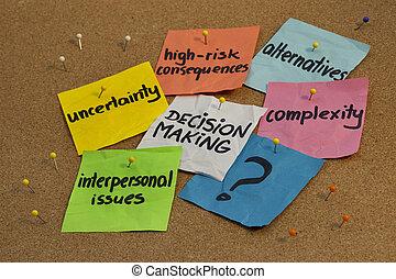 beslissing maken, concept