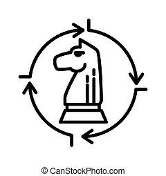 beslissing, ontwerp, illustratie, strategisch