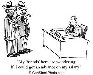 besoin, prêt, dette, mon, jour paie