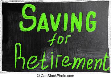 besparing, för, avgång