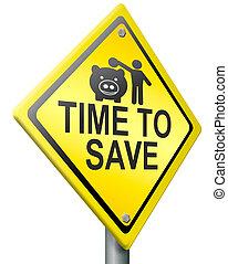 besparing, nu, pengar