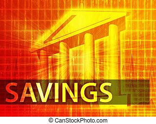 besparingar, illustration