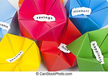 besparingpengar, begrepp