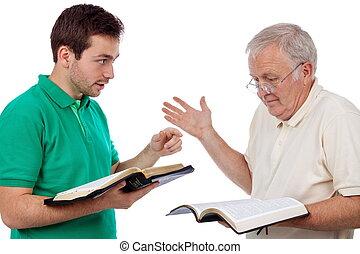 besprechen, der, bibel