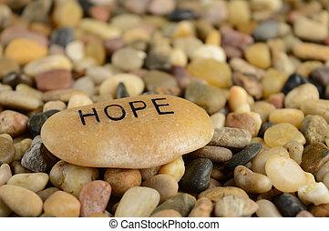 bestätigung, hoffnung, stein
