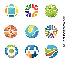 best abstract circle logo set