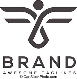 best abstract wings logo simple Vector - best abstract...