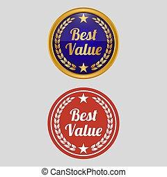 best, achtergrond., grijze , waarde, etiket