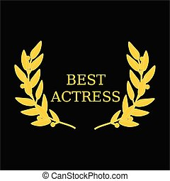 Best actress award - Vector illustration film award best...