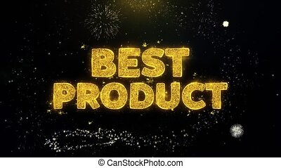 Best Agent Text on Gold Glitter Particles Spark Exploding Fireworks Display. Sale, Discount Price, Off Deals, Offer Promotion Offer Percent Discount ads 4K Loop Animation.