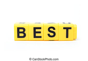Best - An image of yellow blocks with word ''best'' on them