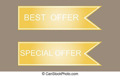 Best and special offer sign icon