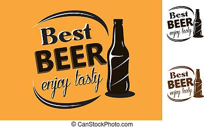Best Beer - enjoy tasty - poster
