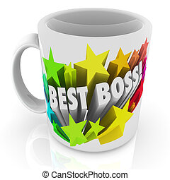 Best Boss Coffee Mug Top Leader Manager Supervisor Prize
