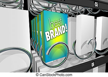 Best Brand Preference Affinity Customer Loyalty Vending Machine 3d Illustration
