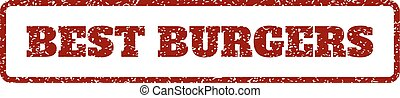 Best Burgers Rubber Stamp