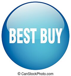 best buy blue round gel isolated push button