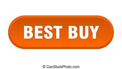 best buy button. best buy rounded orange sign. best buy