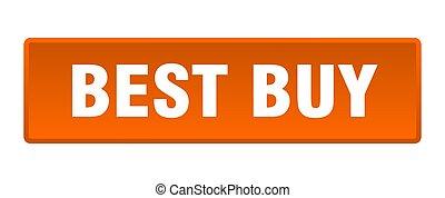 best buy button. best buy square orange push button