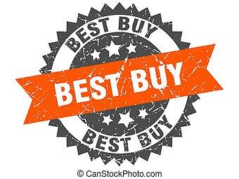 best buy grunge stamp with orange band. best buy