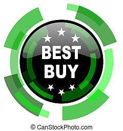 best buy icon, green modern design isolated button, web and mobile app design illustration