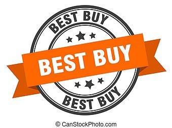 best buy label. best buy orange band sign. best buy