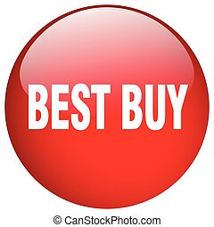 best buy red round gel isolated push button